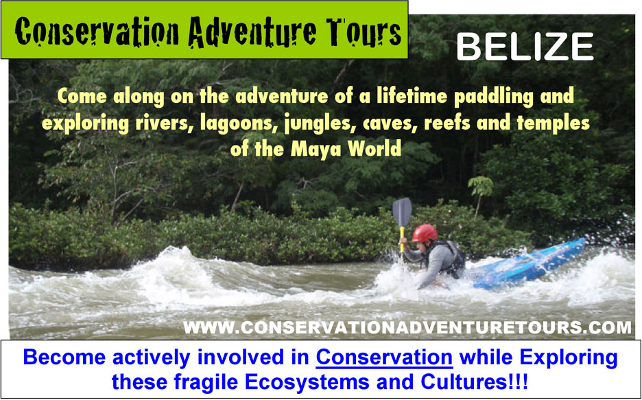 Kayaking tours in Belize Central America
